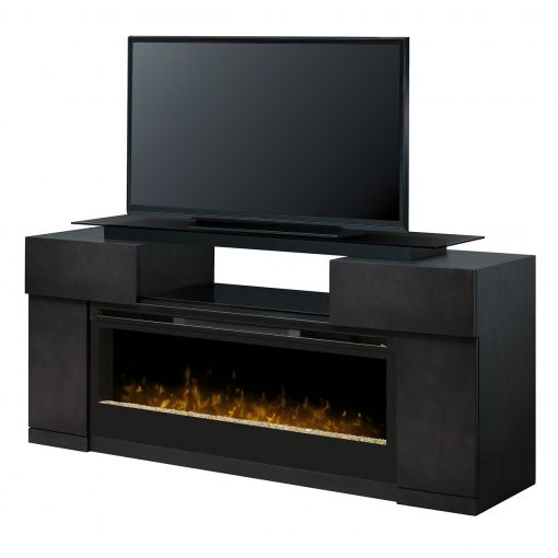 Concord Media Console Glass Ember Bed