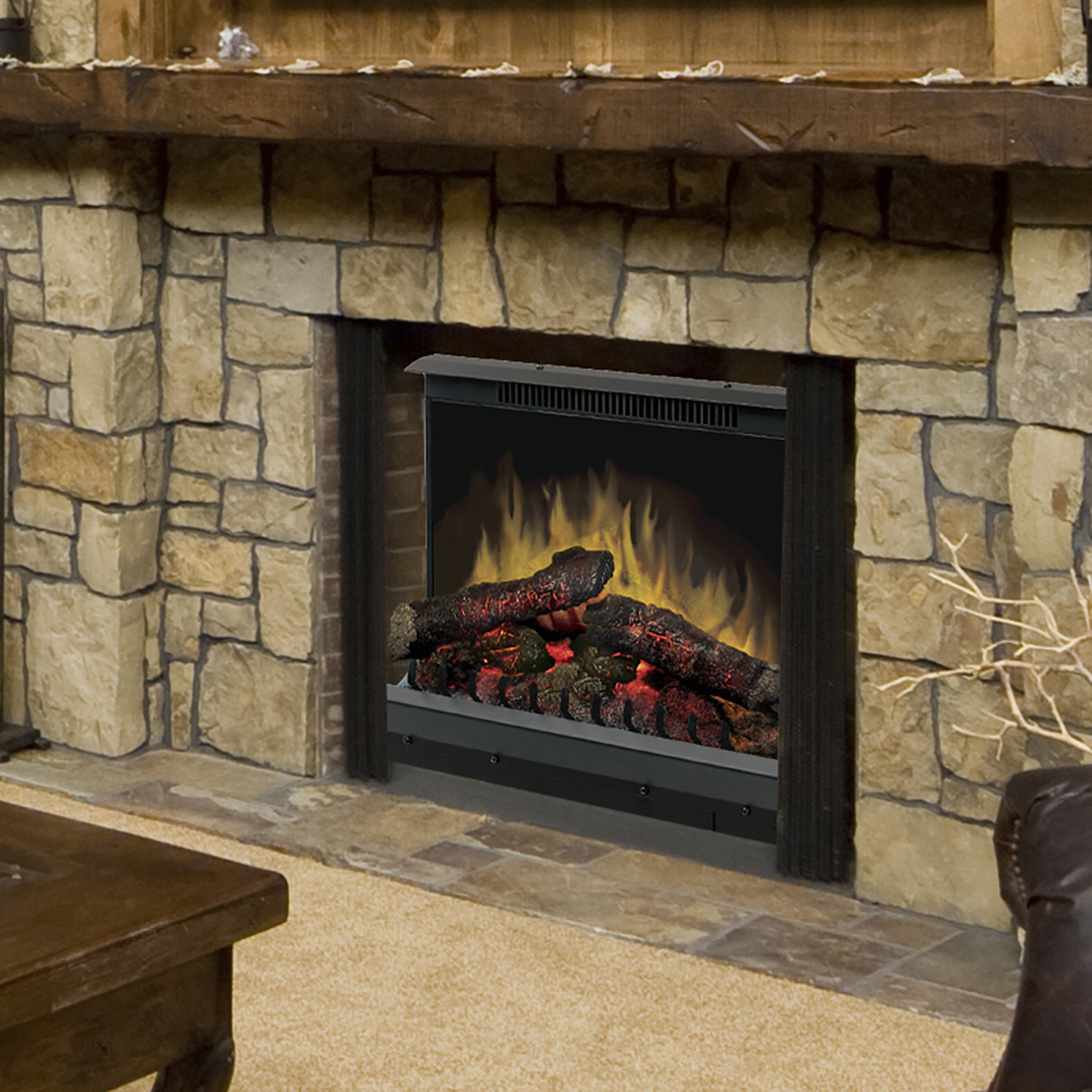 Dimplex Deluxe 23 Quot Log Set Electric Fireplace Insert Dfi2310