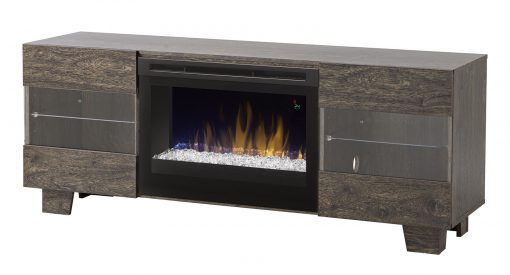 GDS25G5-1651EB-Max Media Console-Glass Ember Bed-Elm Brown