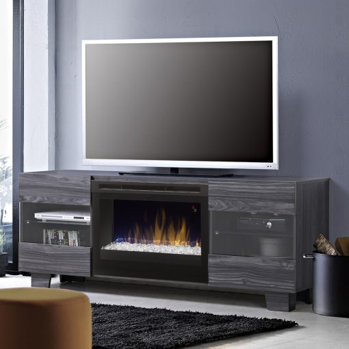 GDS25G5_1651CW-Max Media Console-Glass Ember Bed-Carbon-1