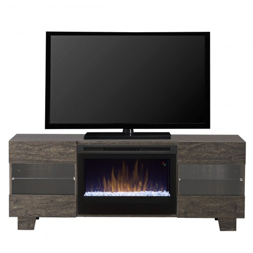 GDS25G5_1651EB-Max Media Console-Glass Ember Bed-Elm Brown