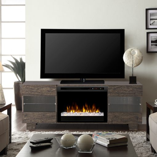 GDS25G8_1651EB-Max Media Console-Acrylic Ice(XHD)-Elm Brown-1