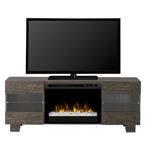 GDS25G8_1651EB-Max Media Console-Acrylic Ice(XHD)-Elm Brown