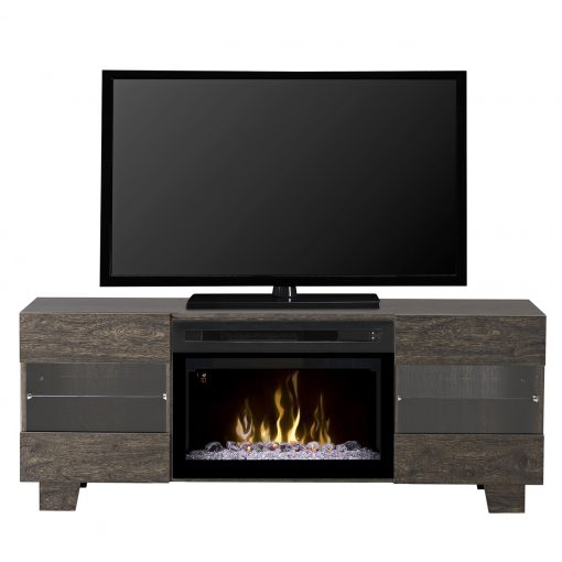GDS25GD_1651EB-Max Media Console-Acrylic Ice-Elm Brown