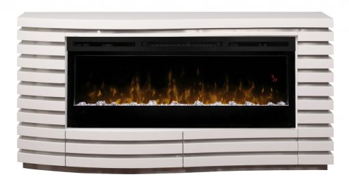 GDS50G5-1587W-Elliot Mantel Electric Fireplace-Acrylic Ice-White