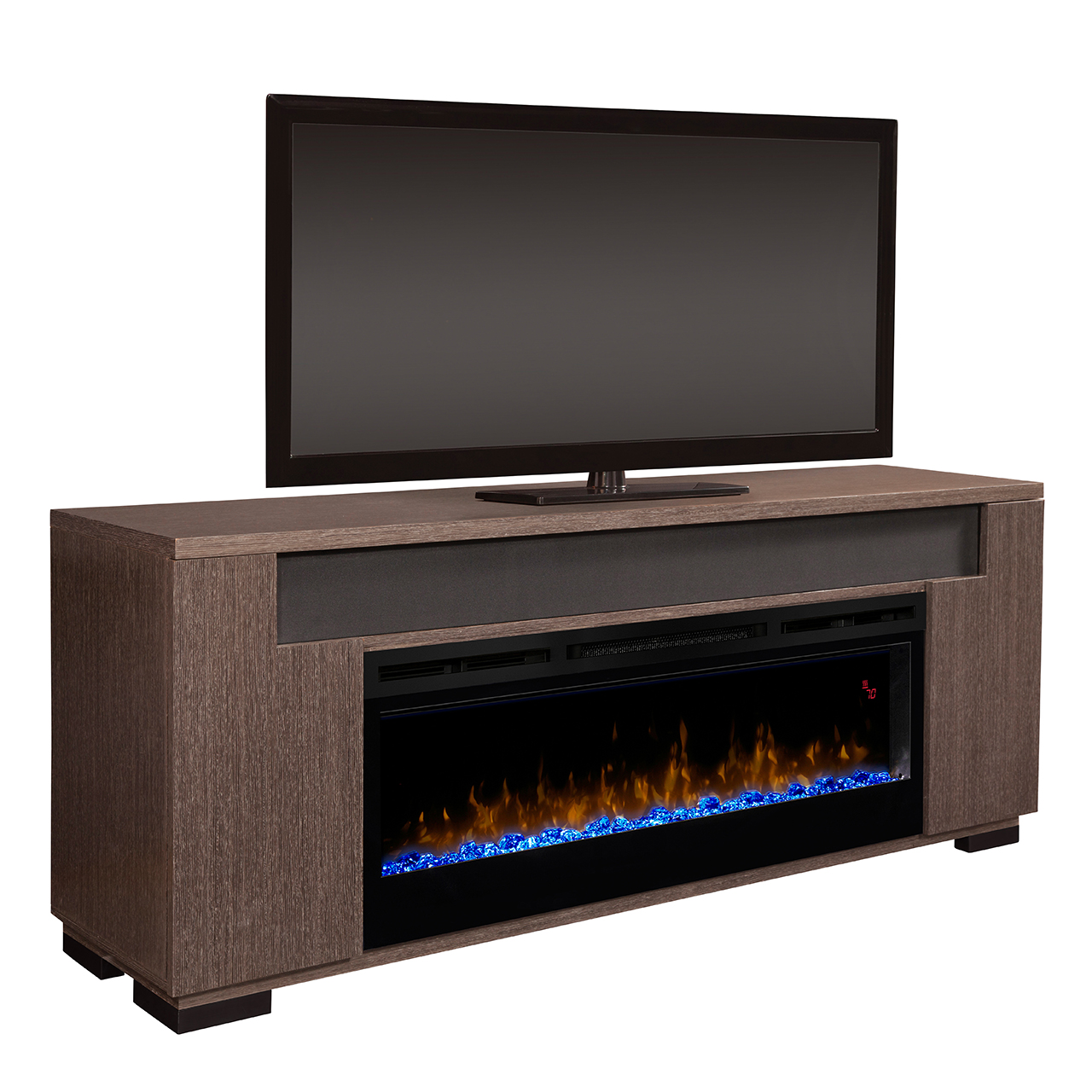 fireplace media belmont log inch classicflame oak gas electric guys caramel console