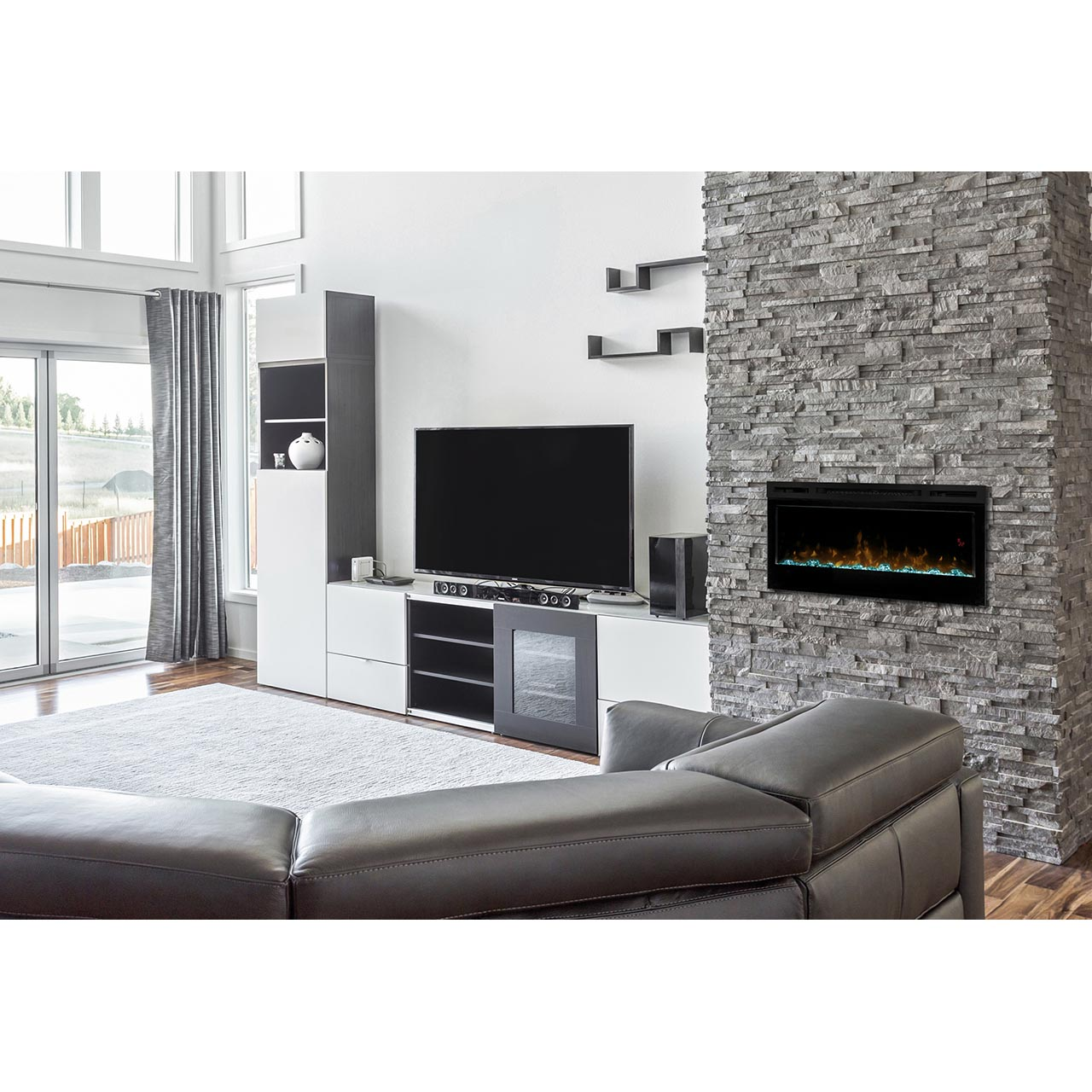 mounted electric fireplace instructional watch item wall black video