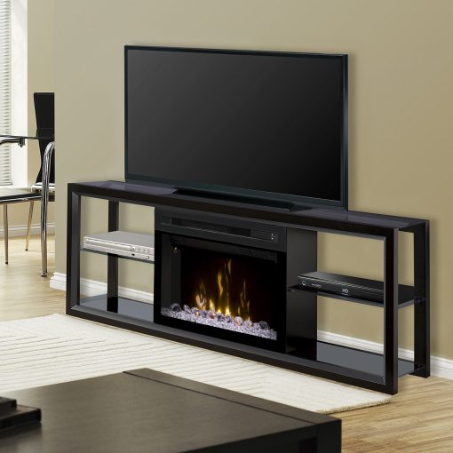 SHGFP-Novara Media Console-Acrylic Ice-Black