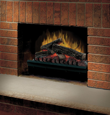 Standard 23 Log Set Electric Fireplace Insert-2