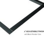 1 Adjustable Finishing Trim - Black