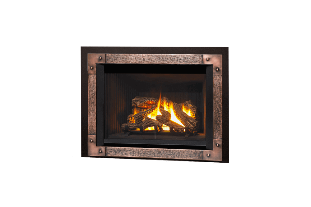 780 Logs, Edgemont Hammered Front in Copper and Backing Plate