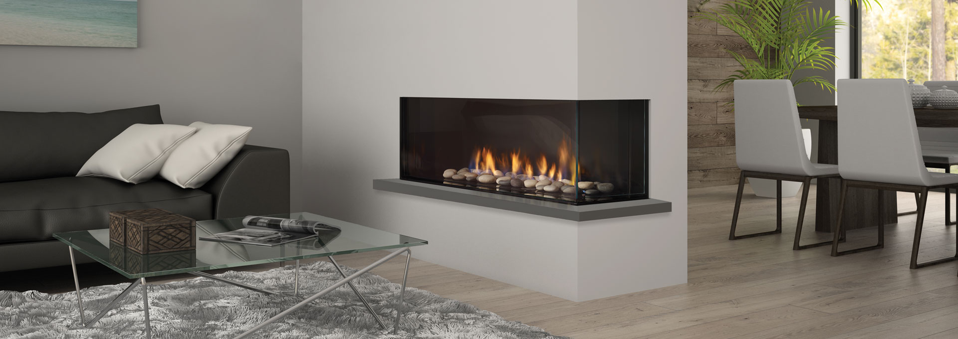 exclusive wood inserts modern fireplace burning