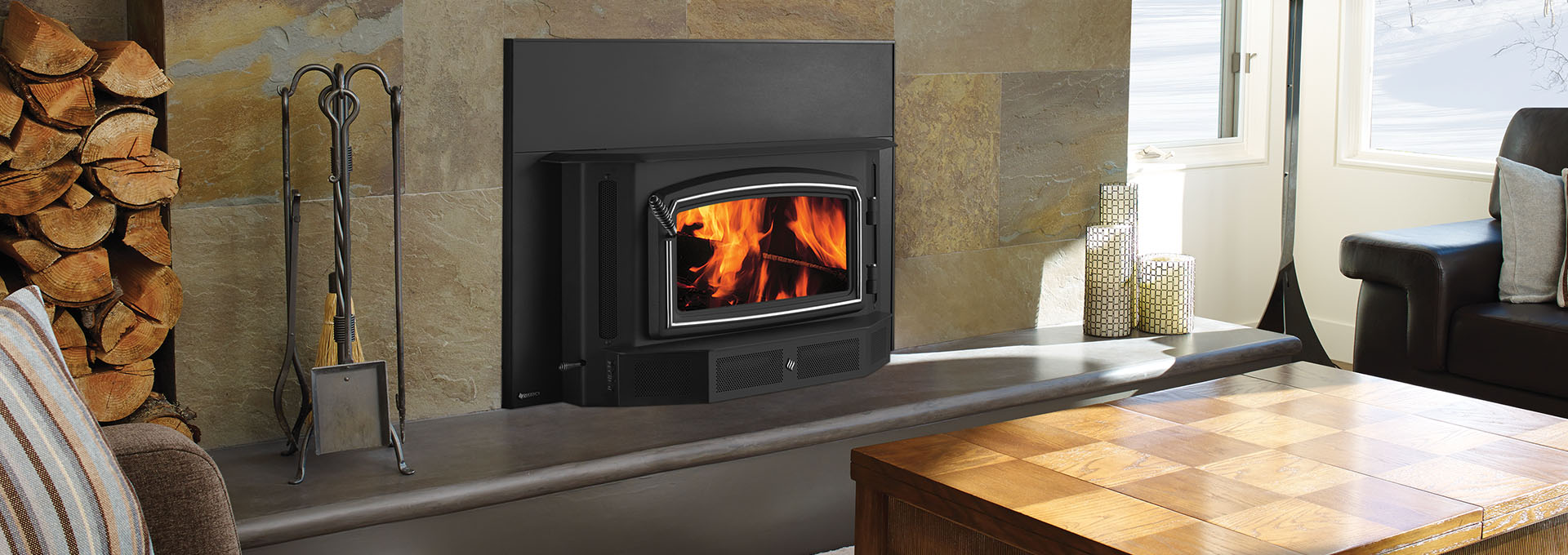 burning inserts fireplace century heating stove wood reviews insert