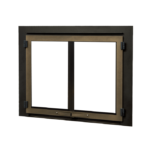 Edgemont Double Doors - Bronze with Backing Plate
