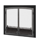 FenderFire Double Door Front - Black with Vintage Iron
