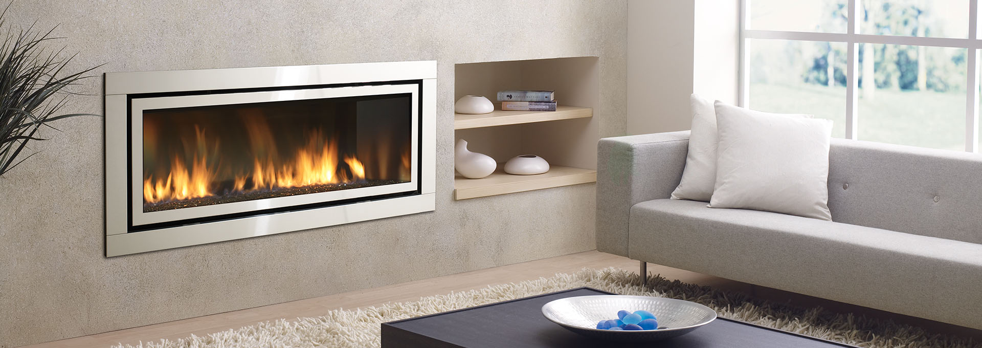 greenfire with fireplace fire gas fascia shown regency black c in fireplaces products log wall