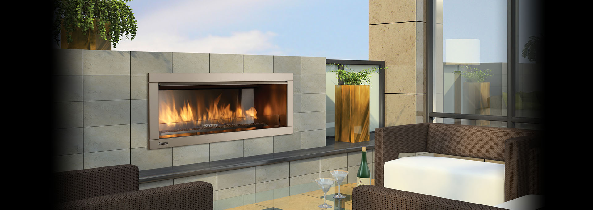 Regency Horizon Hzo42 Outdoor Gas Fireplace Toronto Best