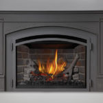 IRONWOOD™ Log Set, Old England Decorative Brick Panels, Cast Iron Surround Kit