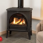 Logs & Arched Front in Black