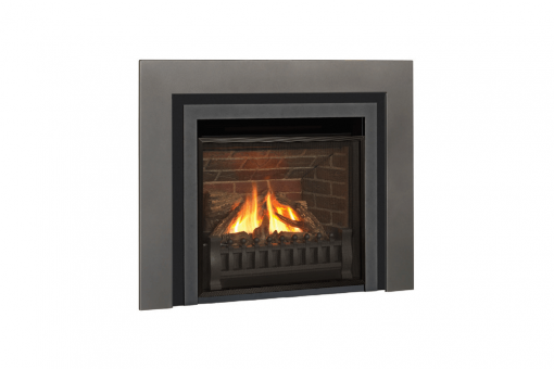 Logs, Clearview Front, Ventana Fret and Vintage Iron Square Trim