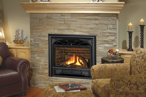 Logs, Traditional Cast Iron Front and Contour Trim