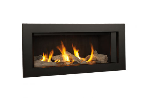 Long Beach Driftwood, Fluted Black Liner and 3-1:2 Inch Trim in Black -1