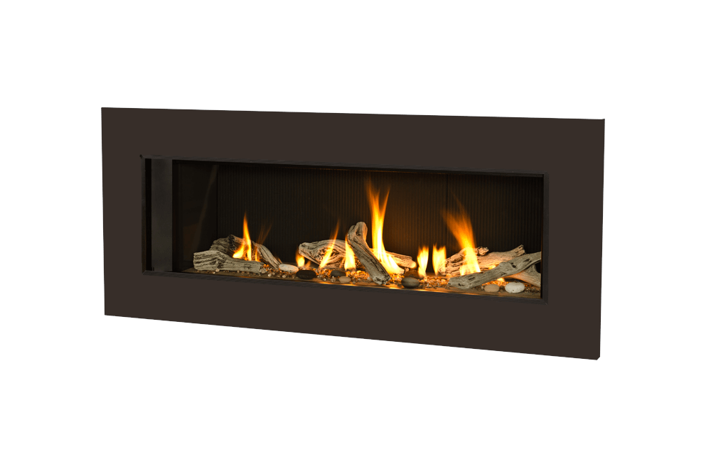 Long Beach Driftwood, Fluted Black Liner and 5 1:4 Inch Trim in Bronze