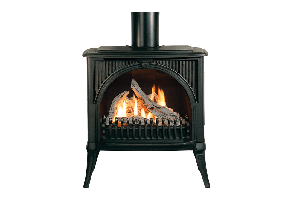 Madrona Arched Front in Black shown with Driftwood