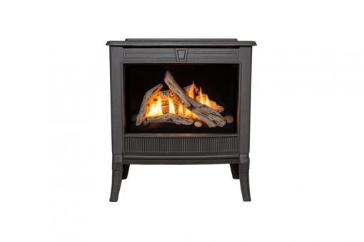 Madrona Square Front in Black shown with Driftwood