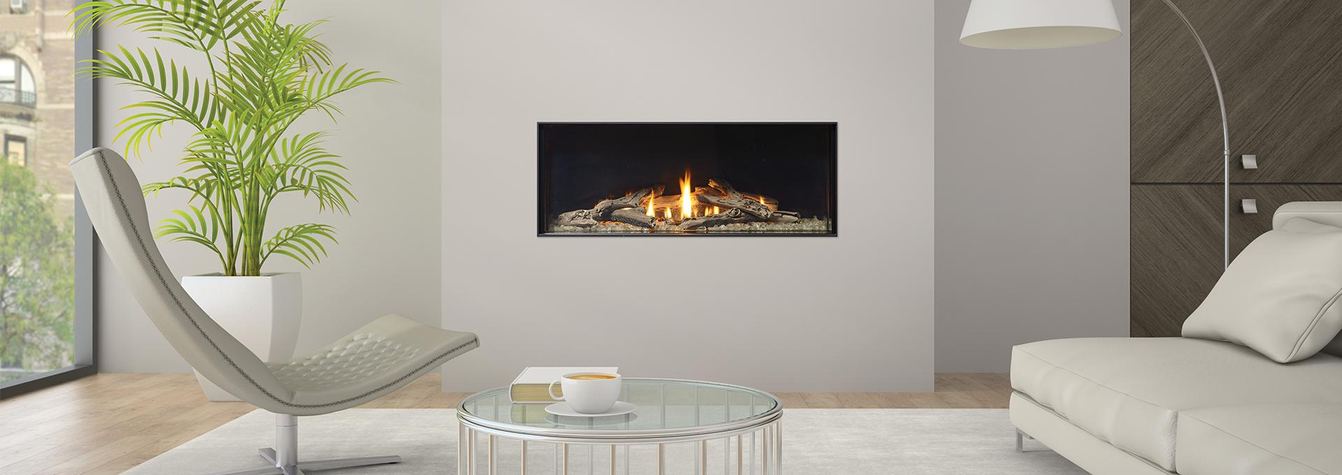 Regency city series new york view 40 modern gas fireplace for Modern gas fireplace price