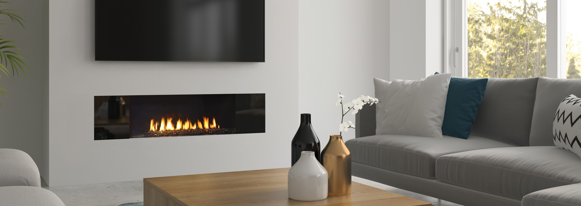 Regency City Series New York View 40 Modern Gas Fireplace