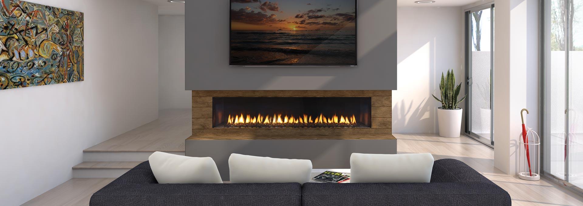 Regency city series new york view 72 modern gas fireplace for Modern gas fireplace price