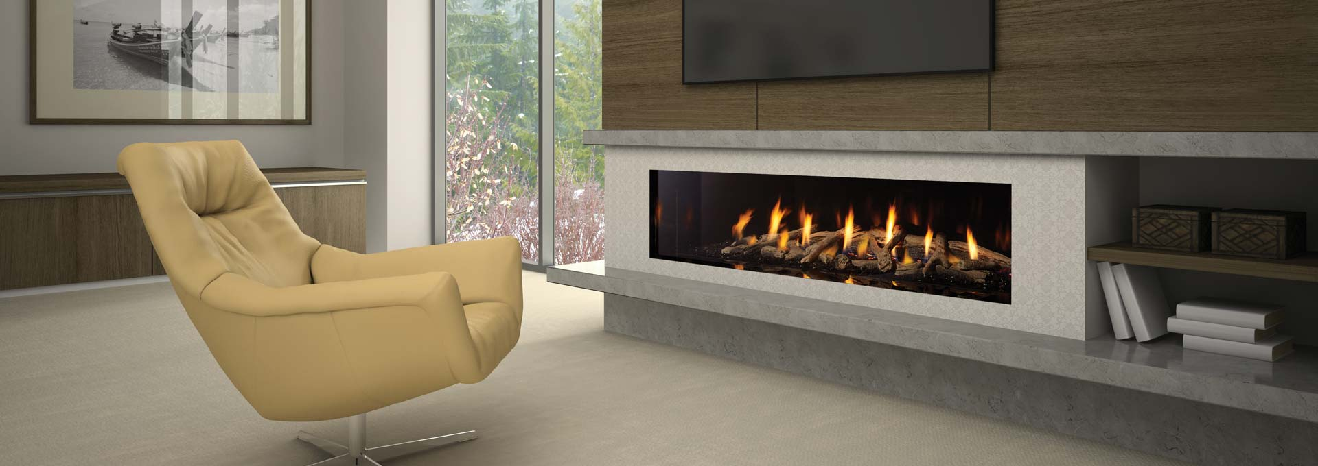 Regency city series new york view 72 modern gas fireplace for Modern gas fireplace price