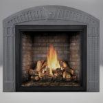PHAZER® OAK Log Set, Newport™ Panel, Arched Surround