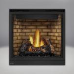 PHAZER™ Log Set, Decorative Sandstone Brick Panels, Standard Safety Screen