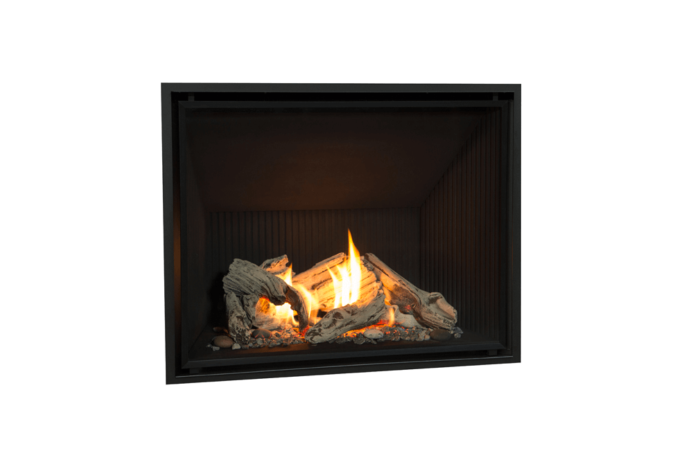 Pebble Beach Driftwood, Fluted Black Liner and 1 Inch Fixed Frame