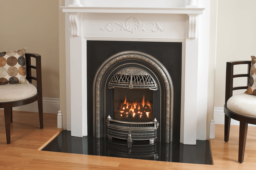 Valor Portrait Windsor Arch Gas Fireplace Zero Clearance