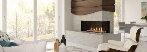 Regency City Series Chicago Corner 40RE Modern Gas Fireplace