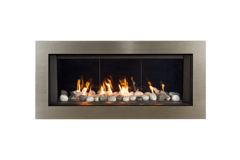 Rock and Shale, Reflective Glass Liner and 3-1:2 Inch Trim in Brushed Nickel