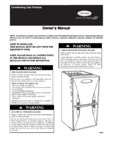 Service Manual INFINITY® 98 Gas Furnace with green speed