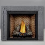 TALL FLAME PHAZER® Log Set, Herringbone Panel, Rectangular Surround