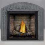 TALL FLAME PHAZER® Log Set, Newport™ Panel, Arched Surround