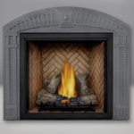 TALL FLAME PHAZER® Log Set, Standard, Herringbone Panel, Arched Surround