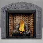 TALL FLAME PHAZER® Log Set, Standard, Herringbone Panel, Arched Surround