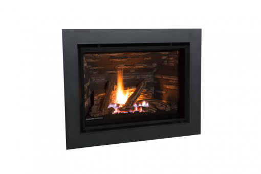 Traditional Logs and 4 Sided Surround in Black