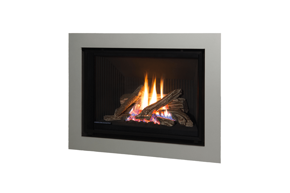 Traditional Logs and 4 Sided Surround in Painted Nickel