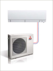 Mitsubishi Single Cooling Ductless Split Systems Wall Mounted
