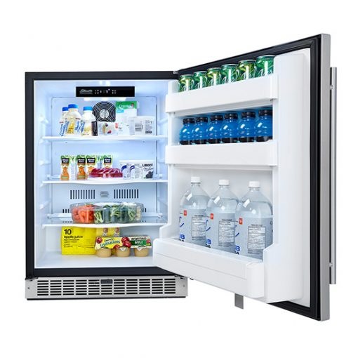 OUTDOOR RATED STAINLESS STEEL FRIDGE-1