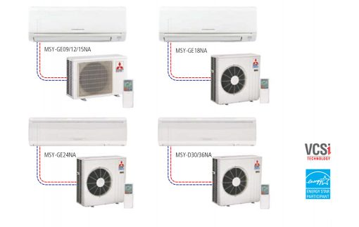 Single Cooling Ductless Split systems Wall-Mounted Style