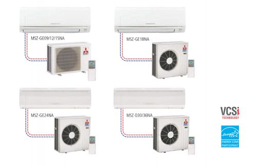 Single Heat Pump Ductless Split systems - Wall-Mounted Style